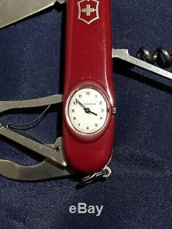 Victorinox Swiss Army Timekeeper Knife Used VGC New Time Piece New Scales