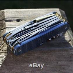 Victorinox Swiss Army knife Swisschamp Titanium Scales Brass Liners Custom NEW