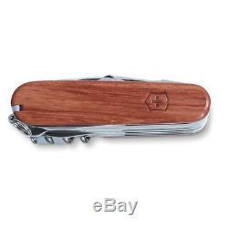 Victorinox Swiss Champ Walnut Wood Swiss Army Pocket Knife 91 MM 31 Tools