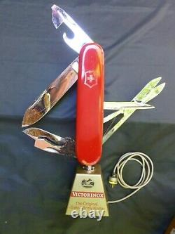 Victorinox Switzerland Swiss Army Knife Stand Display Accessory Animated Motor
