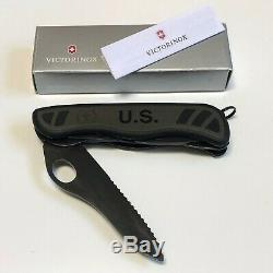 Victorinox US Soldier Combat Utility Knife Black Swiss Army Navy SEAL SAK Demo