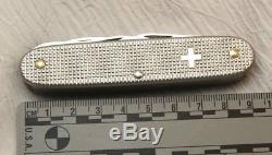 Victorinox Vintage Aluminum Old Cross Swiss Army Knife. Rare Find