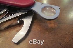 Victorinox Yeoman Swiss Army Knife Rare Discontinued Red Multitool 91mm