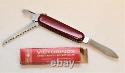 Vintage 1964 Elinox Switzerland Swiss Army Lumberjack Pocket Knife in Box d7