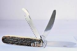 Vintage 1980 Victorinox Swiss Army Safari Stag Hunter Knife Unused