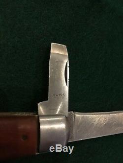 Vintage Elsener Schwyz Soldier Swiss Army Knife Rare