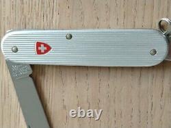 Vintage Original Victorinox Bantam ribbed alox silver rare sak Swiss Army knife