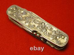 Vintage Sterling Silver Pocket Knife Swiss Army Style Japan T4-1