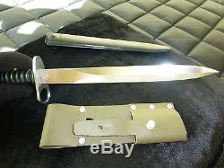 Vintage Swiss Army Bayonet Knife Early Vintage With Scabbard (watch The Video)