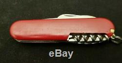 Vintage Victorinox Elinox Serrated Picnicker / Campingmesser Swiss Army Knife