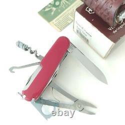Vintage Victorinox Supertimer Swisschamp with Sheath Swiss Army Knife Timekeeper