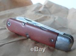 Vintage Victorinox Switzerland Swiss Army Knife sak Soldier model 1951