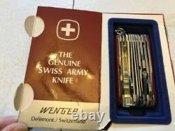 Vintage Wenger Swiss Army Knife 17 Tools with Box