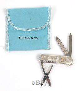 Vtg Tiffany & Co. 18k Gold & Sterling Silver Swiss Army Pocket Knife with Pen