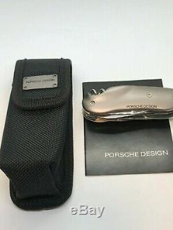 WENGER Porsche Design 37 Cigar Cutter SWISS ARMY KNIFE Ruthenium Handles +SHEATH
