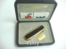 Wenger 24k Gold Macao Series Swiss Army Knife Jubilee 700 Years Switzerland -New
