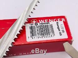 Wenger 3 layer Ranger 05 WoodSaw Century 120MM Swiss Army Knife NIB