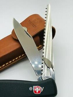 Wenger 3 layer Ranger 05 WoodSaw Century 120MM Swiss Army Knife +leather sheath