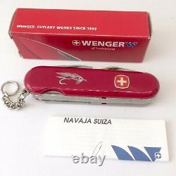 Wenger Angler Fish with Hook File Swiss Army Knife 85mm New Old Stock Fisherman