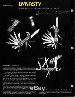 Wenger Lancelot Dynasty V. S. Series 16632 RARE! Circa 1993 SAK Swiss Army Knife