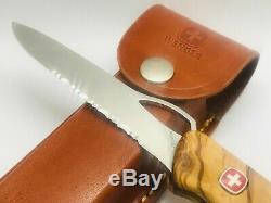 Wenger Ranger 151 OLIVE one-hand 130MM semi serrated Swiss Army Knife + Sheath