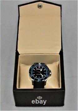 Wenger Sea Force 01.0641.102 Swiss Army Knife Watch Black Strap Blue Accents