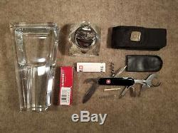 Wenger Victorinox Swiss Army Knife Dunhill Lighter Crystal Cigar Holder Ashtray