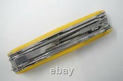 Yellow Victorinox RangerGrip Boatsman Pocket Knife Swiss Army 130mm Wenger Grip